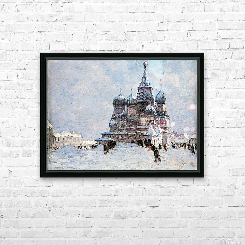 Red Square HD Sublimation Metal print with Decorating Float Frame (BOX)