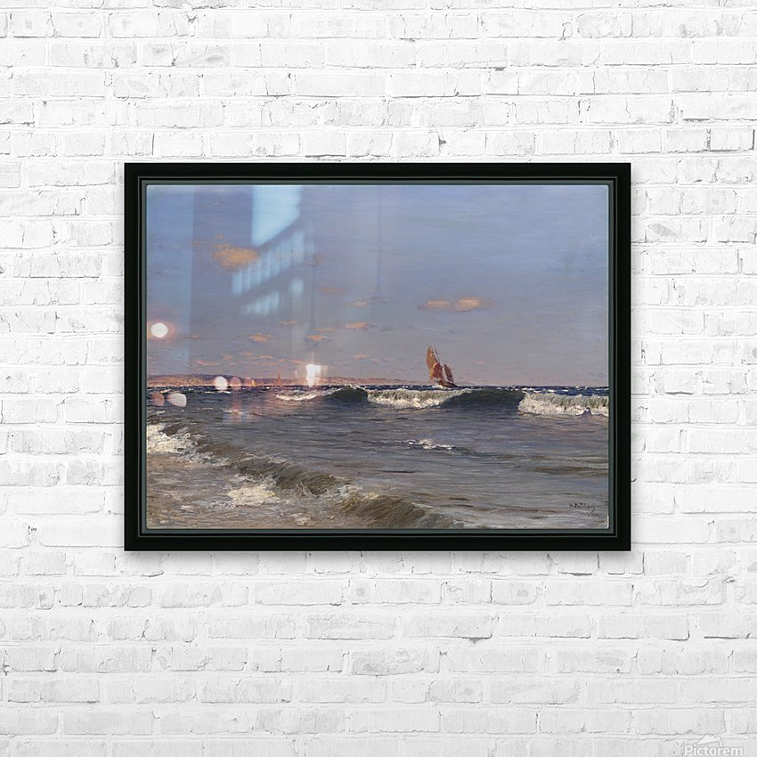 Sea Side HD Sublimation Metal print with Decorating Float Frame (BOX)