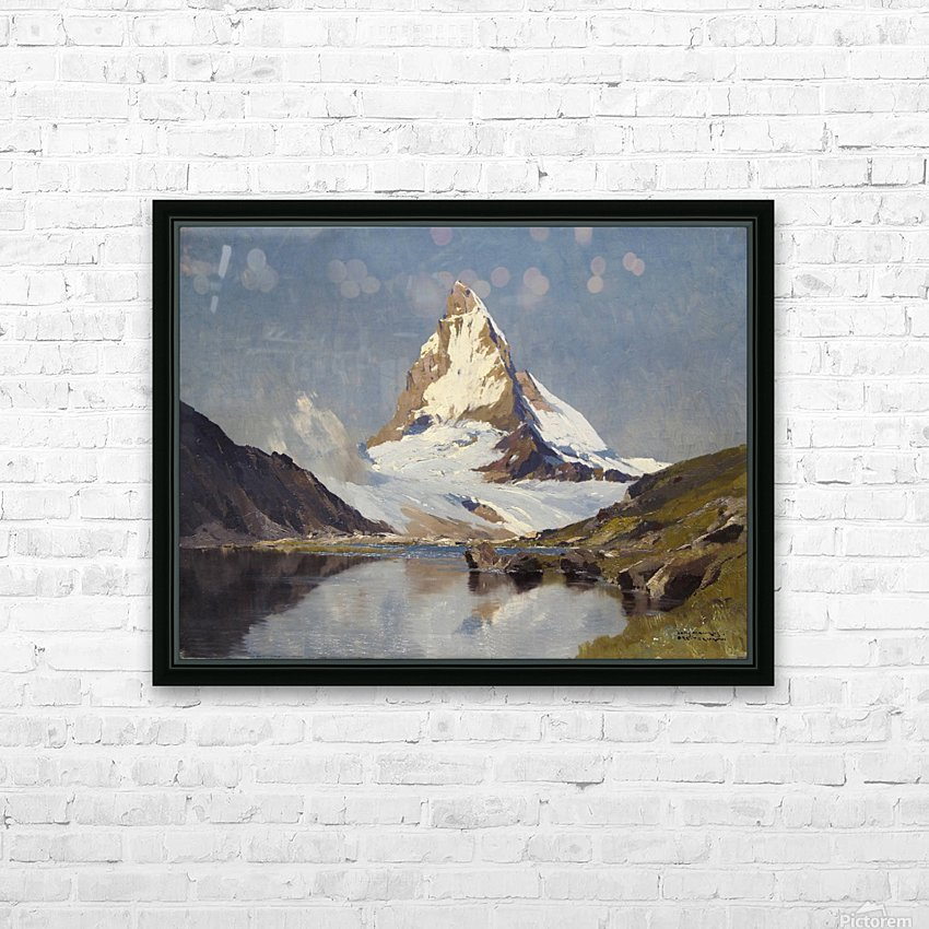 The Matterhorn HD Sublimation Metal print with Decorating Float Frame (BOX)