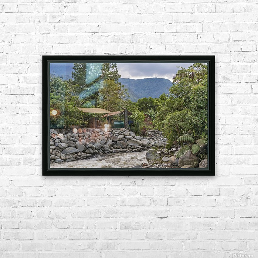 Pastaza River and Leafy Mountains Ecuador copia HD Sublimation Metal print with Decorating Float Frame (BOX)