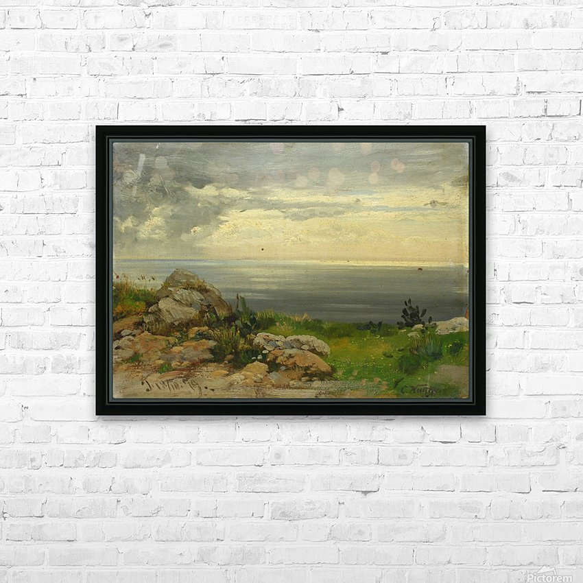 Landscape in Taormina, Sicily HD Sublimation Metal print with Decorating Float Frame (BOX)