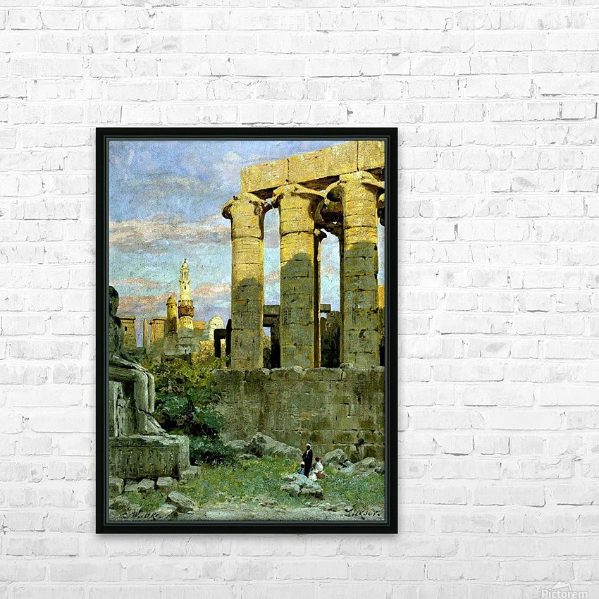 Temple of Luxor, with Abu al Haggag Mosque HD Sublimation Metal print with Decorating Float Frame (BOX)
