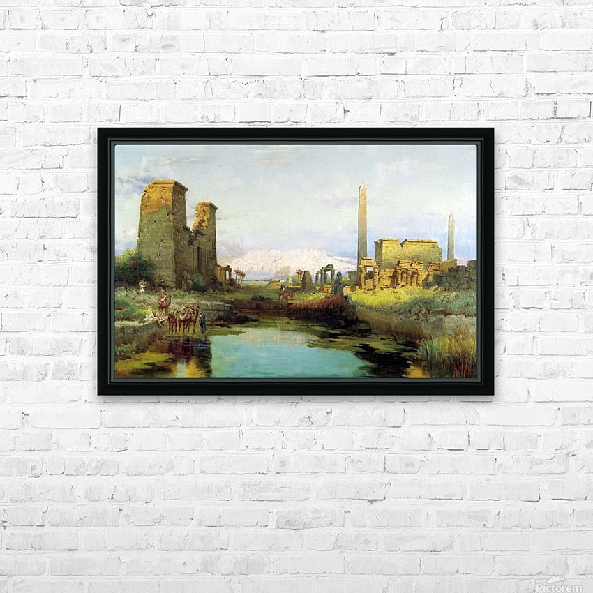 The Temple of Karnak 1911 HD Sublimation Metal print with Decorating Float Frame (BOX)