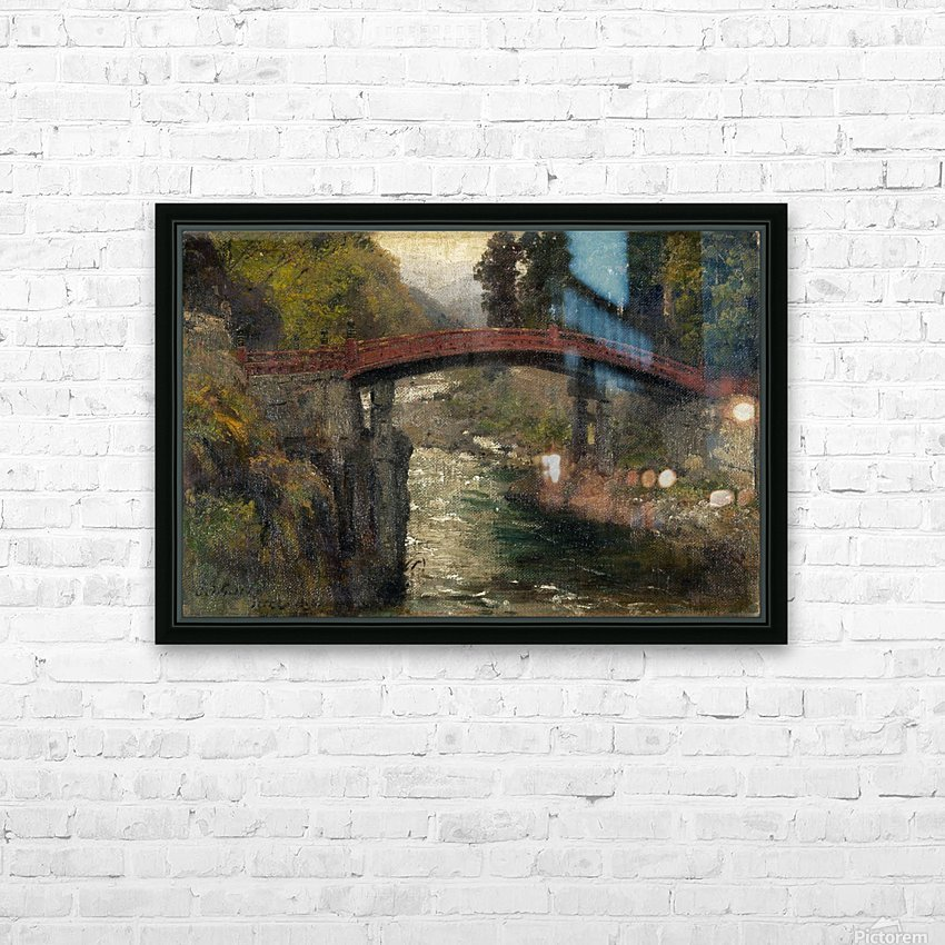 The sacred bridge in Nikko HD Sublimation Metal print with Decorating Float Frame (BOX)