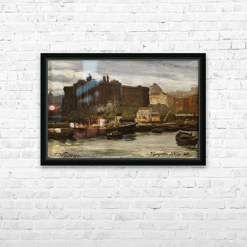 In the port of Naples HD Sublimation Metal print with Decorating Float Frame (BOX)