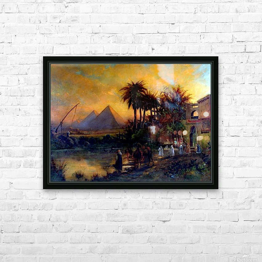 Pyramid scene HD Sublimation Metal print with Decorating Float Frame (BOX)