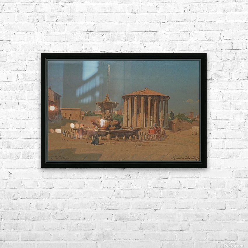 Roma, August 1877 HD Sublimation Metal print with Decorating Float Frame (BOX)