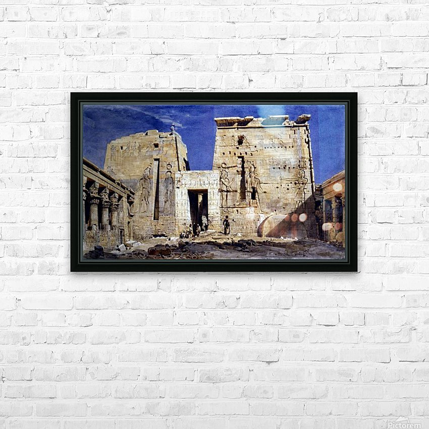 Temple of Isis at Philae HD Sublimation Metal print with Decorating Float Frame (BOX)