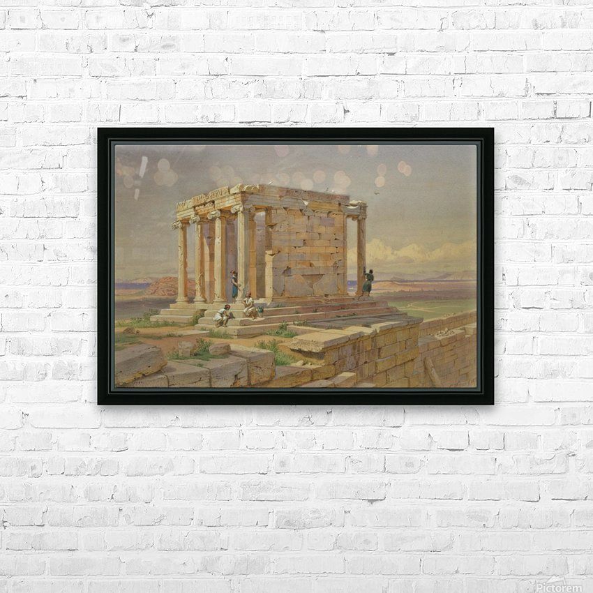 The Temple of Athena Nike HD Sublimation Metal print with Decorating Float Frame (BOX)