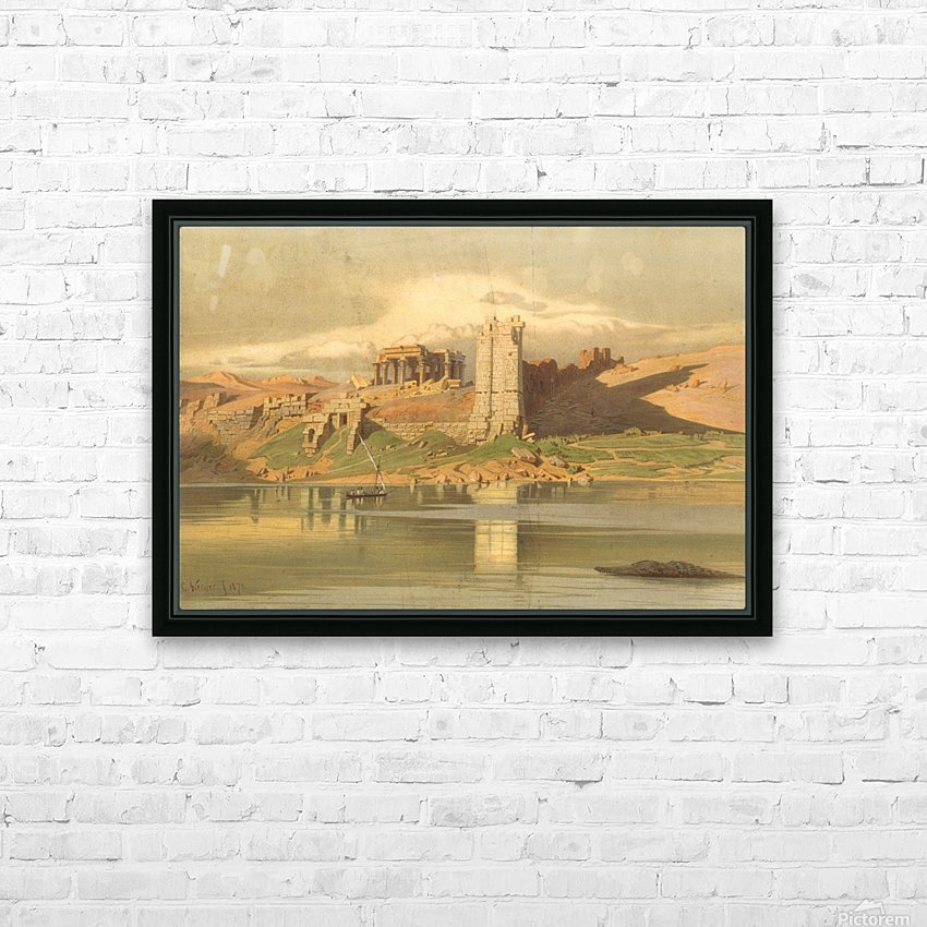 The Temple Ruins of Kum-Ombo, Egypt HD Sublimation Metal print with Decorating Float Frame (BOX)