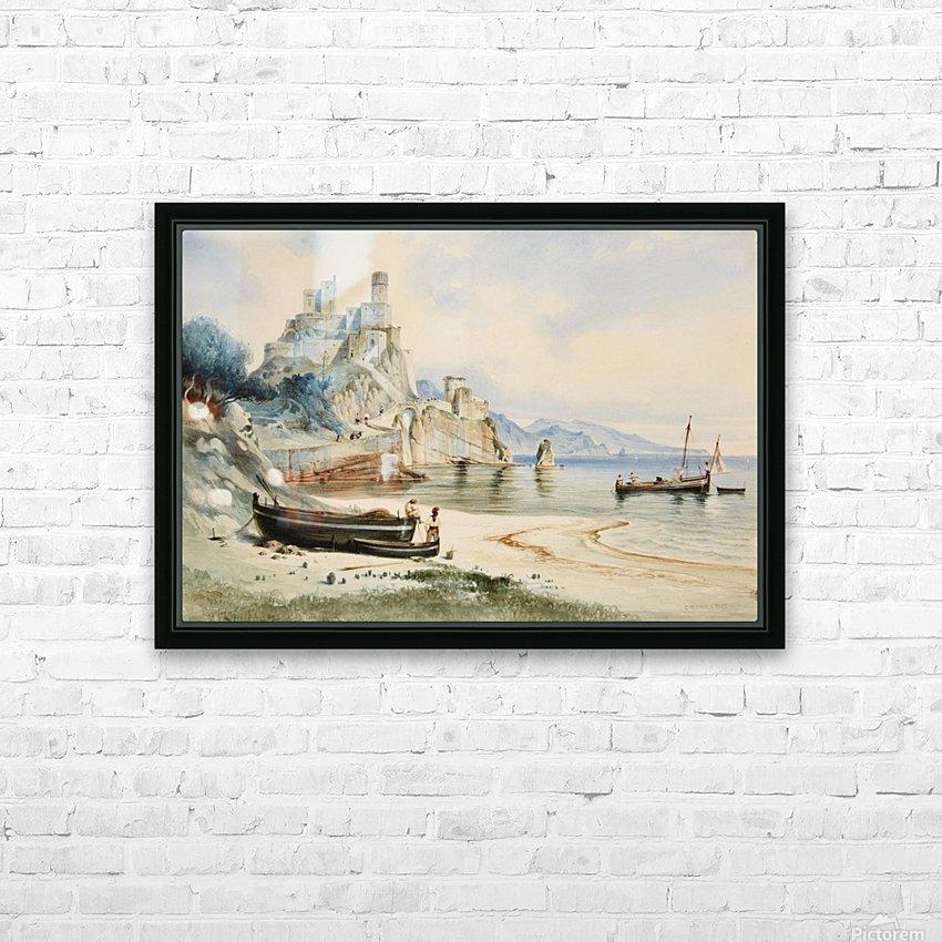 Sicilian Coastal Landscape HD Sublimation Metal print with Decorating Float Frame (BOX)