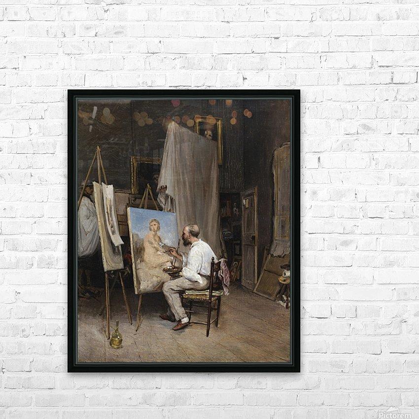 Le peintre dans son atelier HD Sublimation Metal print with Decorating Float Frame (BOX)