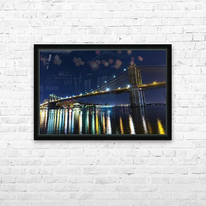 The Brooklyn Bridge HD Sublimation Metal print with Decorating Float Frame (BOX)