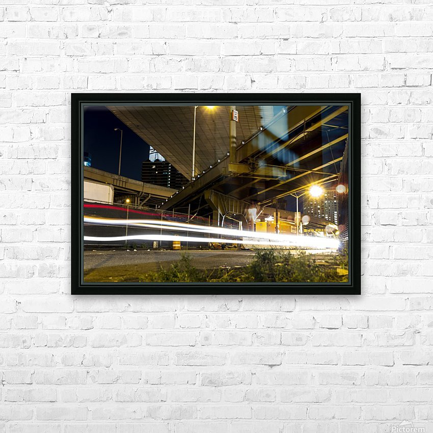 Lights of The Detour HD Sublimation Metal print with Decorating Float Frame (BOX)