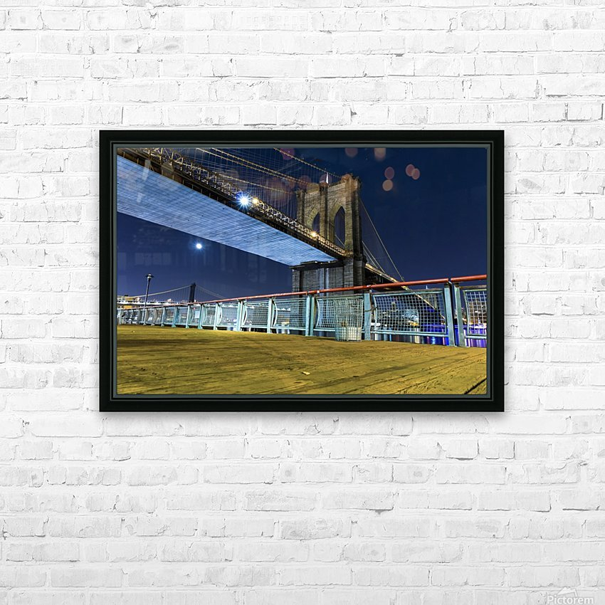 The Brooklyn Bridge 0 HD Sublimation Metal print with Decorating Float Frame (BOX)