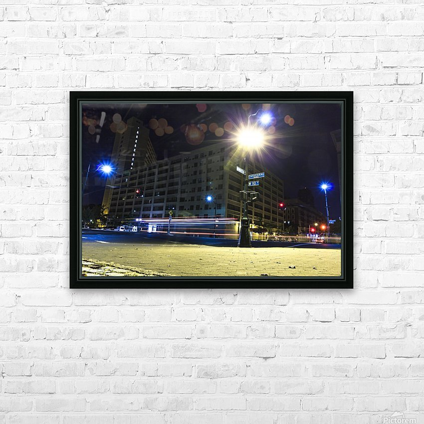 Cathedral Lights HD Sublimation Metal print with Decorating Float Frame (BOX)