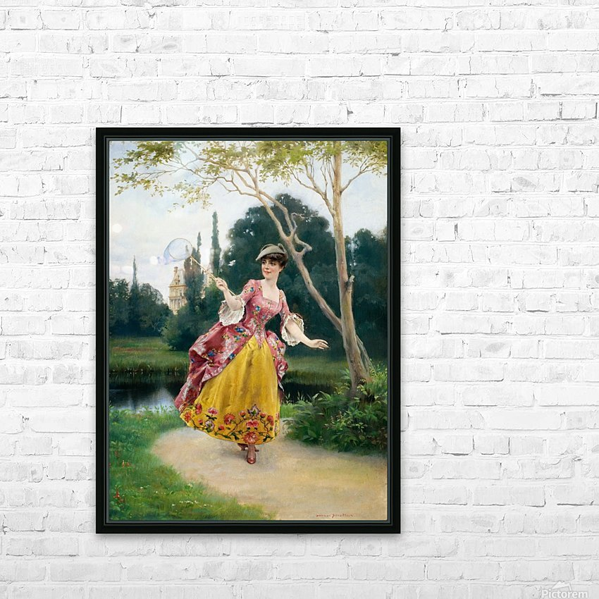 Outside the palace HD Sublimation Metal print with Decorating Float Frame (BOX)