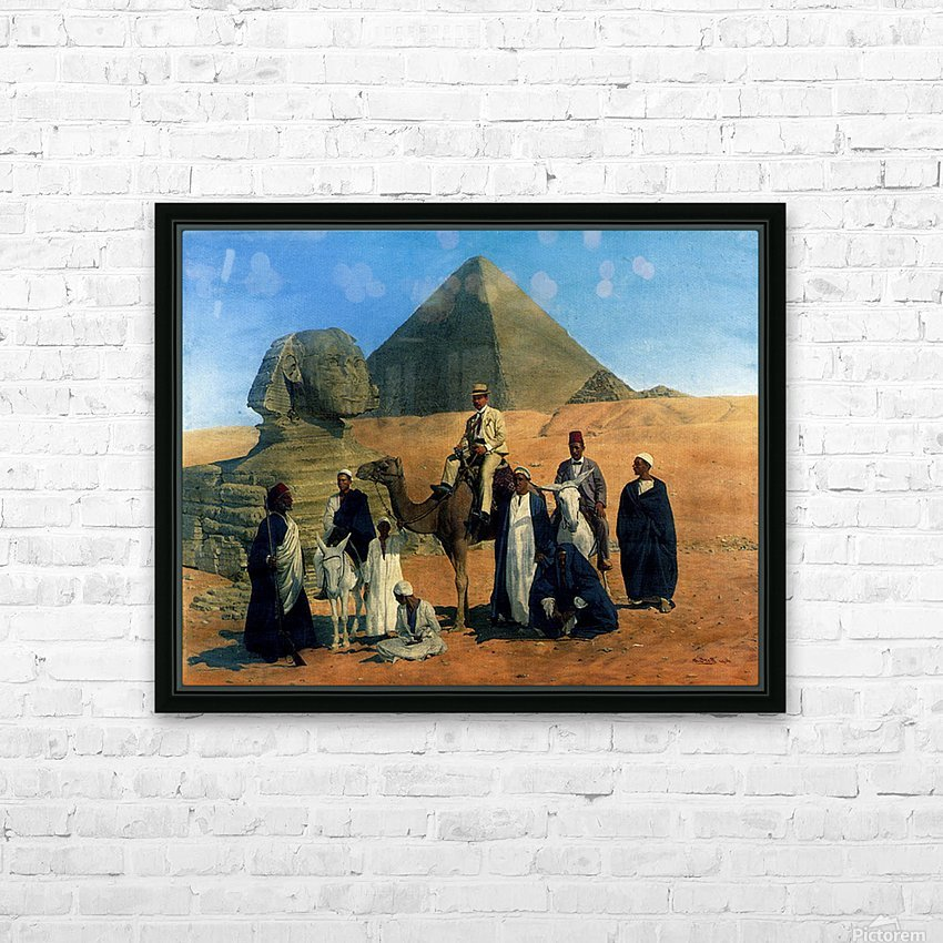 In search of the Pharaohs HD Sublimation Metal print with Decorating Float Frame (BOX)
