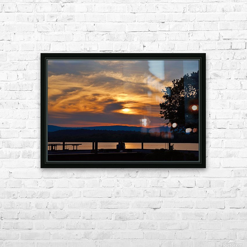 Sunset on the Shores of Ticonderoga HD Sublimation Metal print with Decorating Float Frame (BOX)