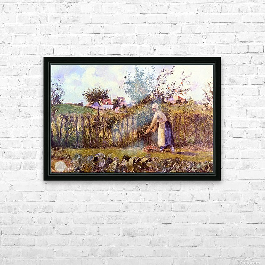 In the Orchard by Pissarro HD Sublimation Metal print with Decorating Float Frame (BOX)