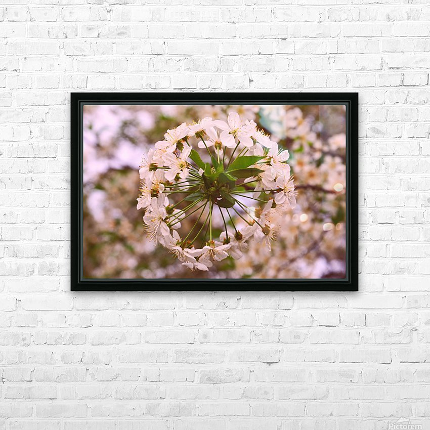 Spring clock HD Sublimation Metal print with Decorating Float Frame (BOX)