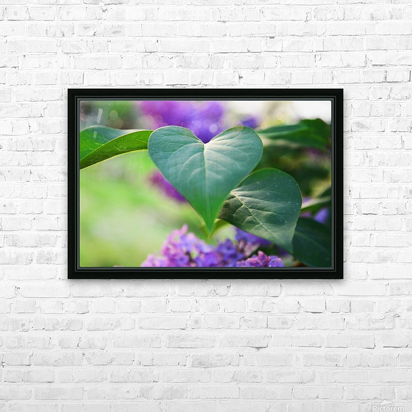 Lilac hearts HD Sublimation Metal print with Decorating Float Frame (BOX)