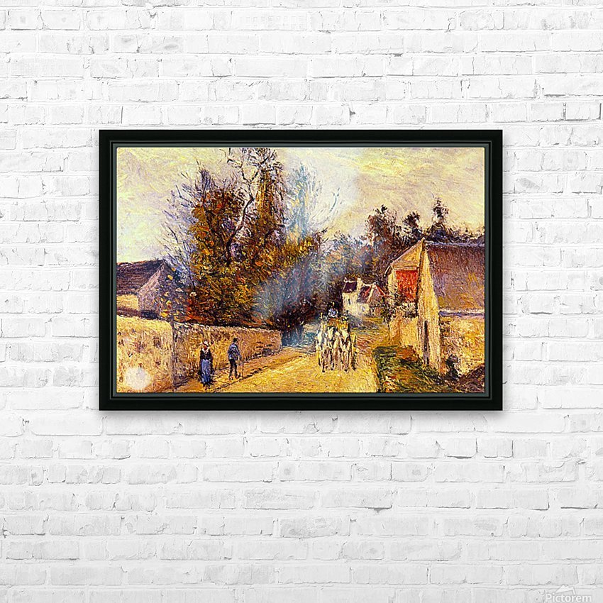 La Diligence, Route dEnnery by Pissarro HD Sublimation Metal print with Decorating Float Frame (BOX)