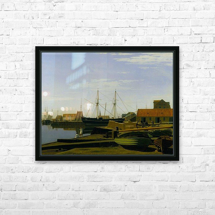 Larsen Square near Copenhagen Harbor HD Sublimation Metal print with Decorating Float Frame (BOX)