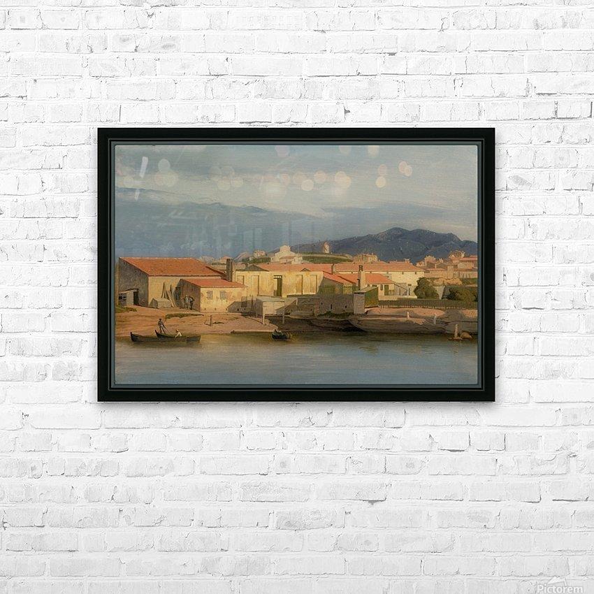 Vue des environs de Marseille HD Sublimation Metal print with Decorating Float Frame (BOX)