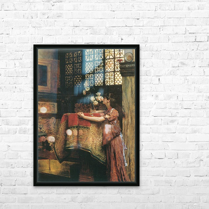 In my studio by Alma-Tadema HD Sublimation Metal print with Decorating Float Frame (BOX)