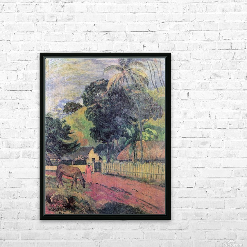 Landscape by Gauguin HD Sublimation Metal print with Decorating Float Frame (BOX)