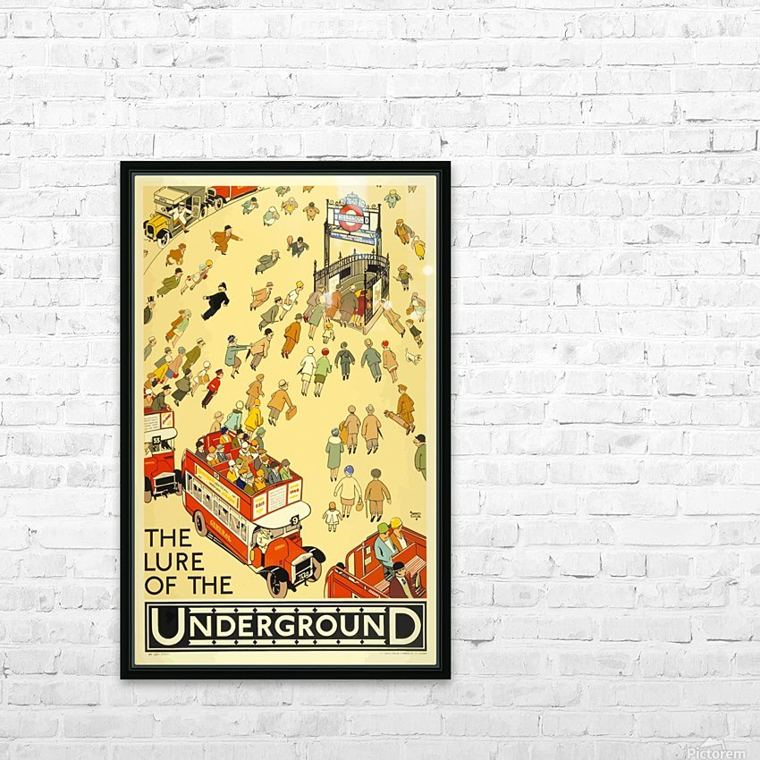 Vintage Travel Poster London Underground HD Sublimation Metal print with Decorating Float Frame (BOX)