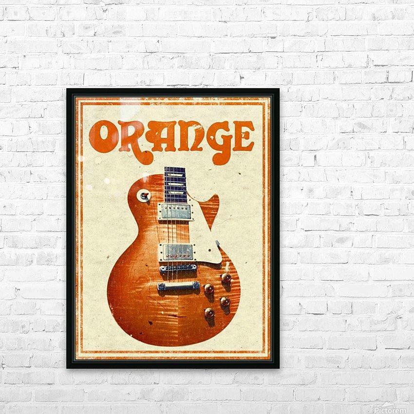 Orange vintage advertising poster HD Sublimation Metal print with Decorating Float Frame (BOX)