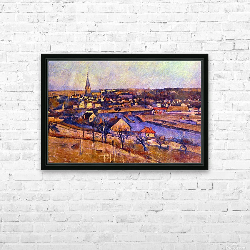 Landscape of Ile de France by Cezanne HD Sublimation Metal print with Decorating Float Frame (BOX)