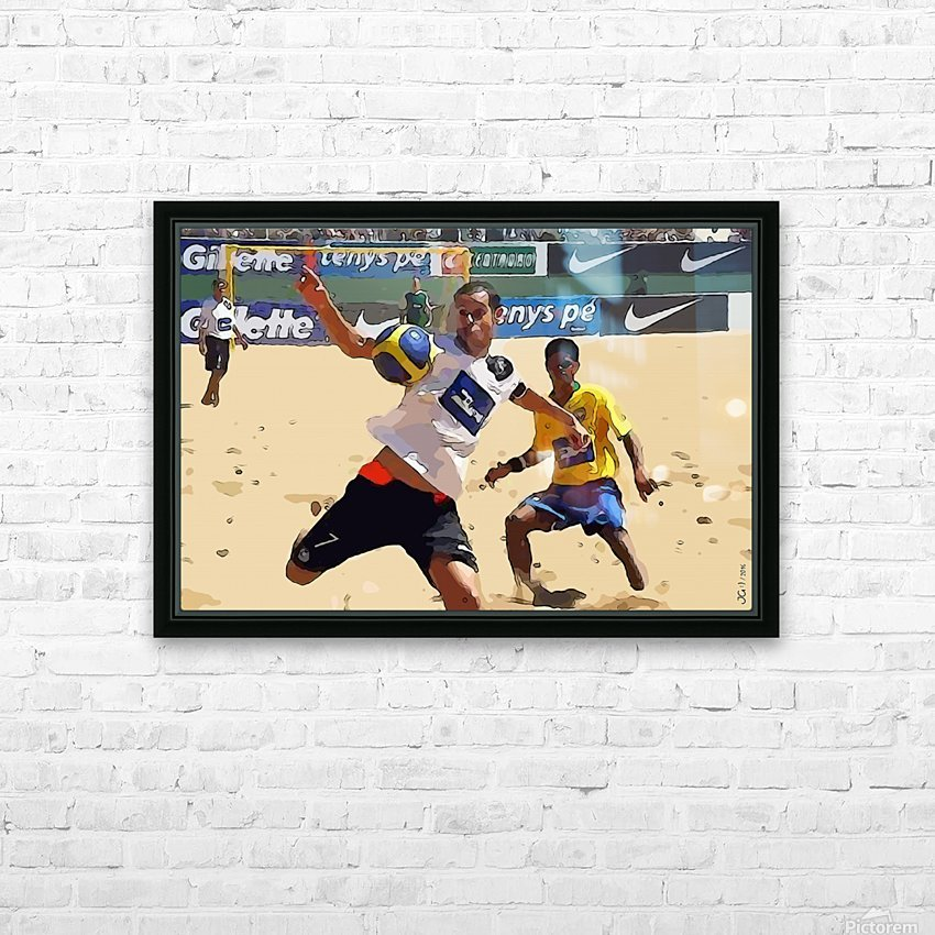 Beach football_05 HD Sublimation Metal print with Decorating Float Frame (BOX)