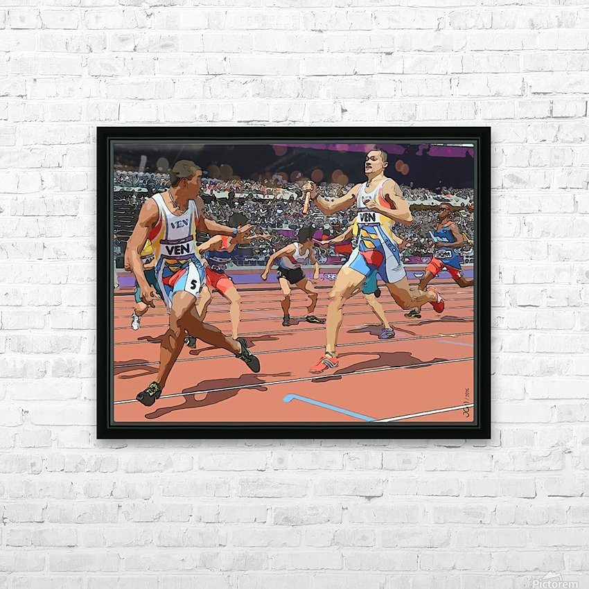 Athletics_04 HD Sublimation Metal print with Decorating Float Frame (BOX)