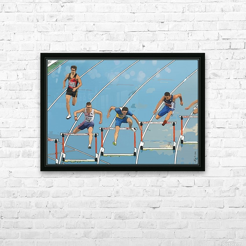 Athletics_13 HD Sublimation Metal print with Decorating Float Frame (BOX)