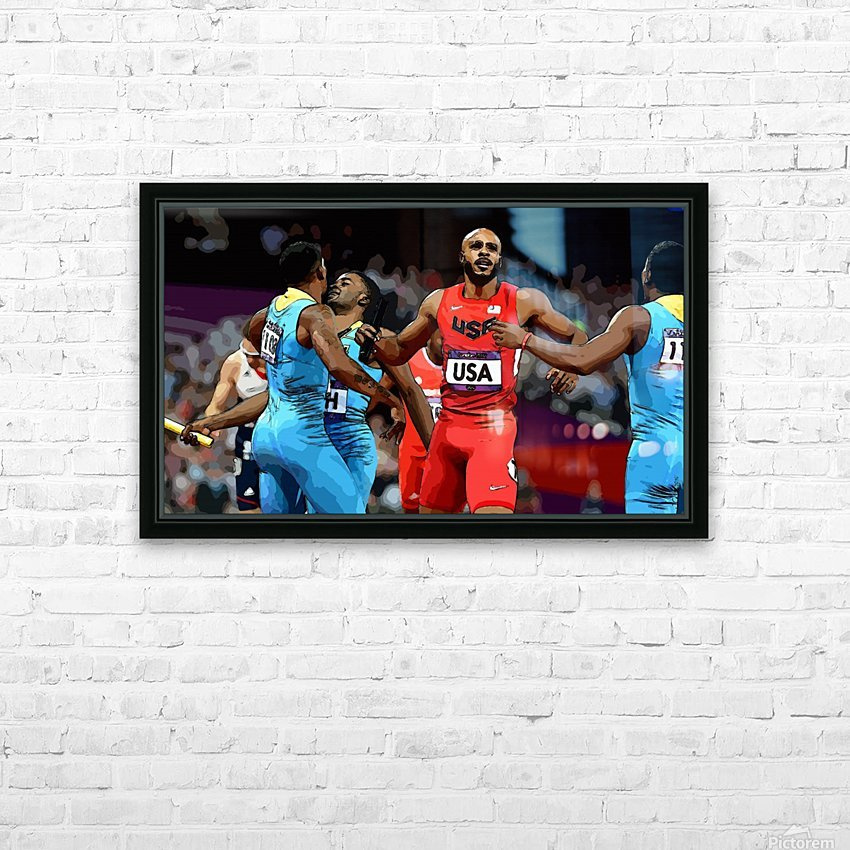 Athletics_33 HD Sublimation Metal print with Decorating Float Frame (BOX)