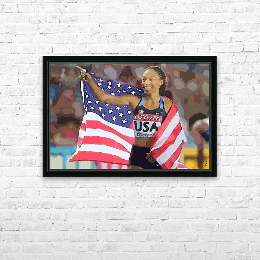 Athletics_44 HD Sublimation Metal print with Decorating Float Frame (BOX)