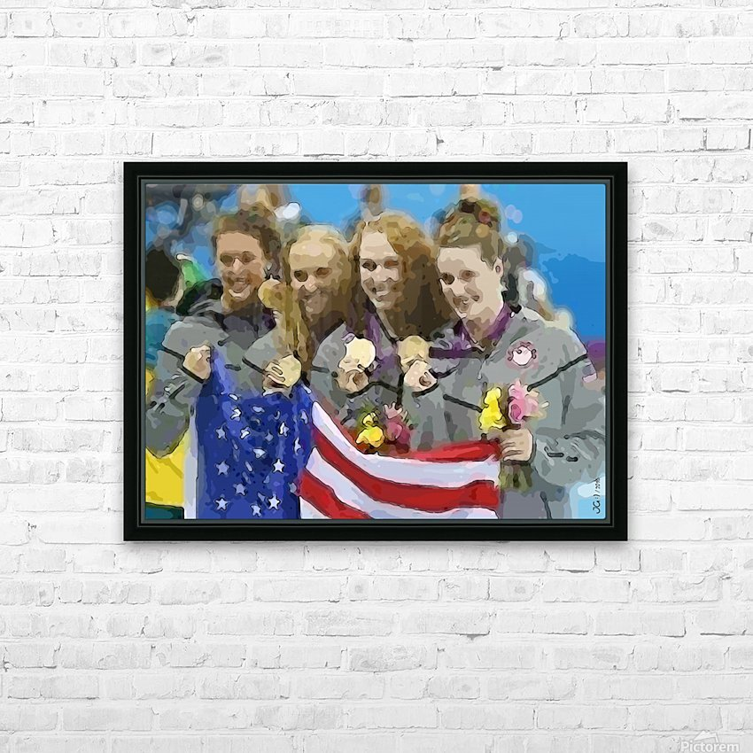 Athletics_48 HD Sublimation Metal print with Decorating Float Frame (BOX)
