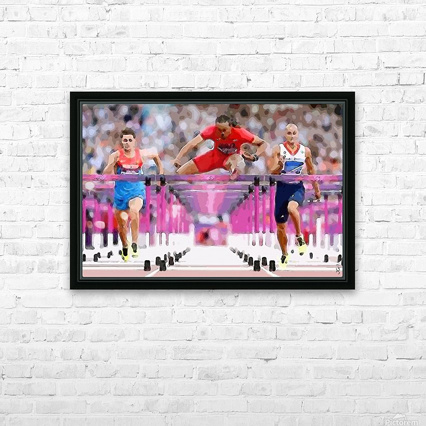 Athletics_58 HD Sublimation Metal print with Decorating Float Frame (BOX)