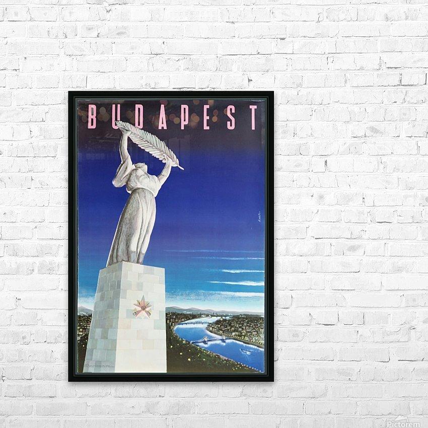 Original vintage poster Budapest HD Sublimation Metal print with Decorating Float Frame (BOX)