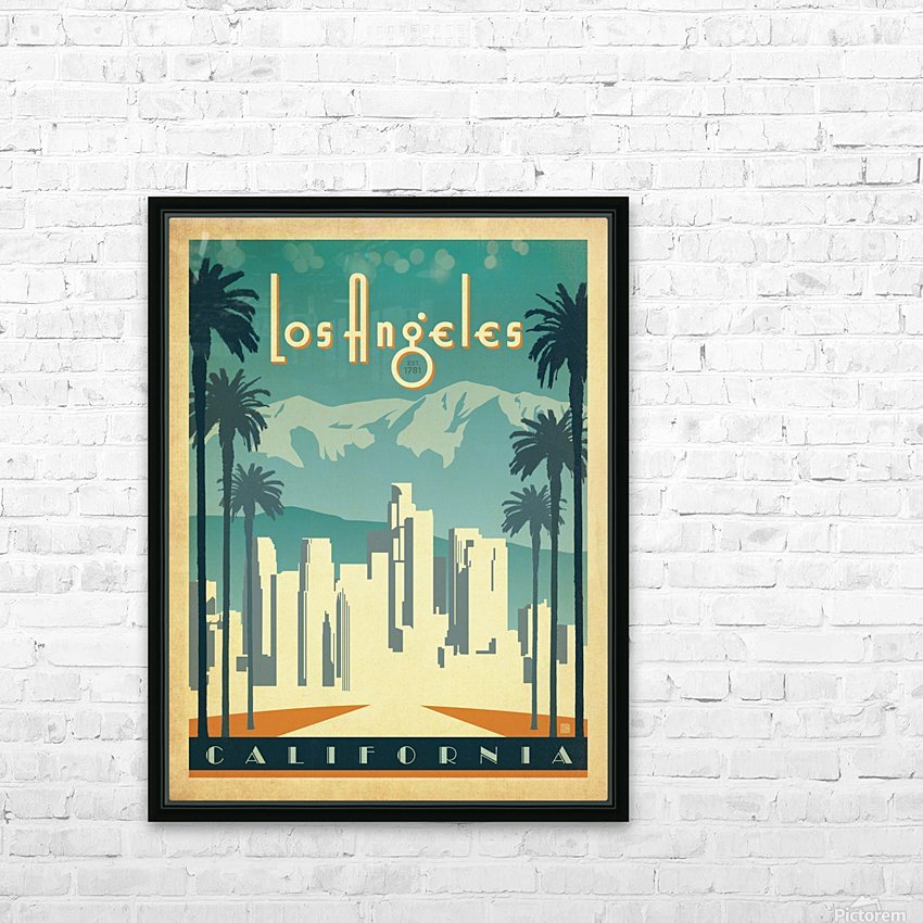 Los Angeles California travel poster HD Sublimation Metal print with Decorating Float Frame (BOX)