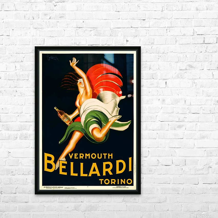 Vermouth Bellardi Torino HD Sublimation Metal print with Decorating Float Frame (BOX)