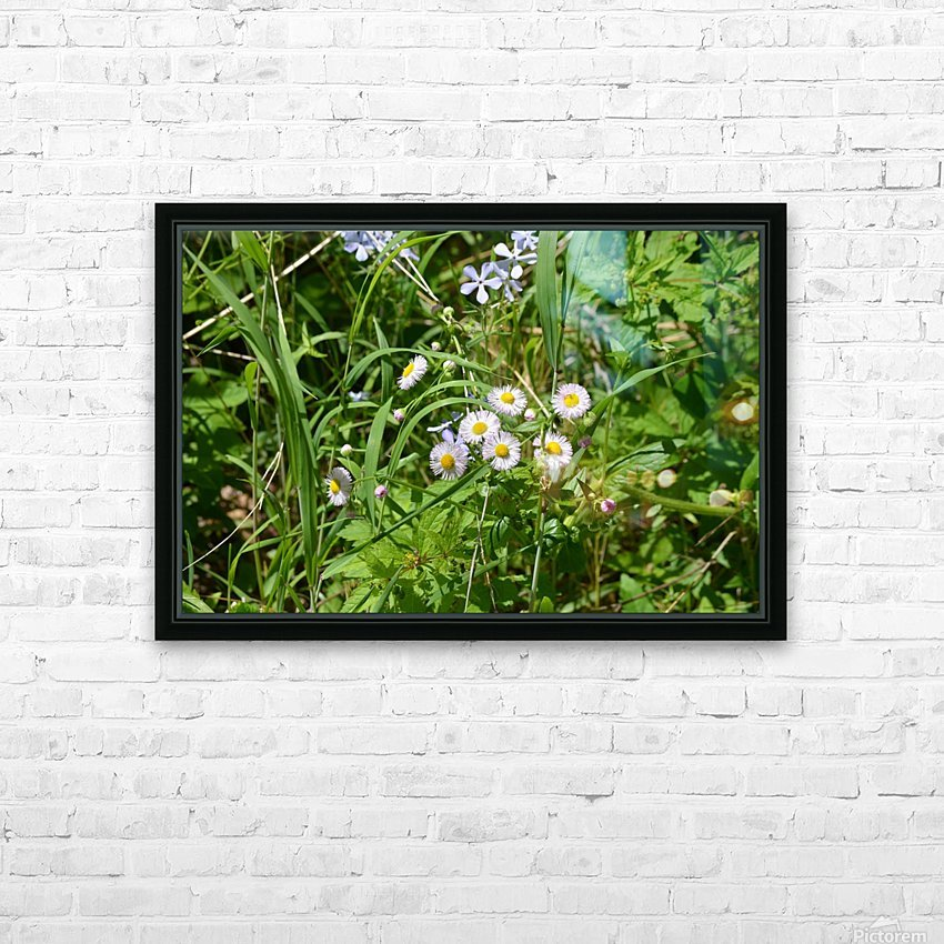 Wild flowers HD Sublimation Metal print with Decorating Float Frame (BOX)