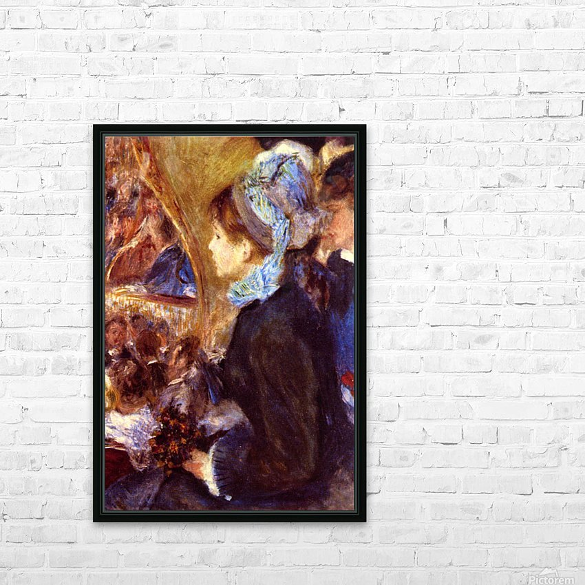 Le Cafe Concert by Renoir HD Sublimation Metal print with Decorating Float Frame (BOX)