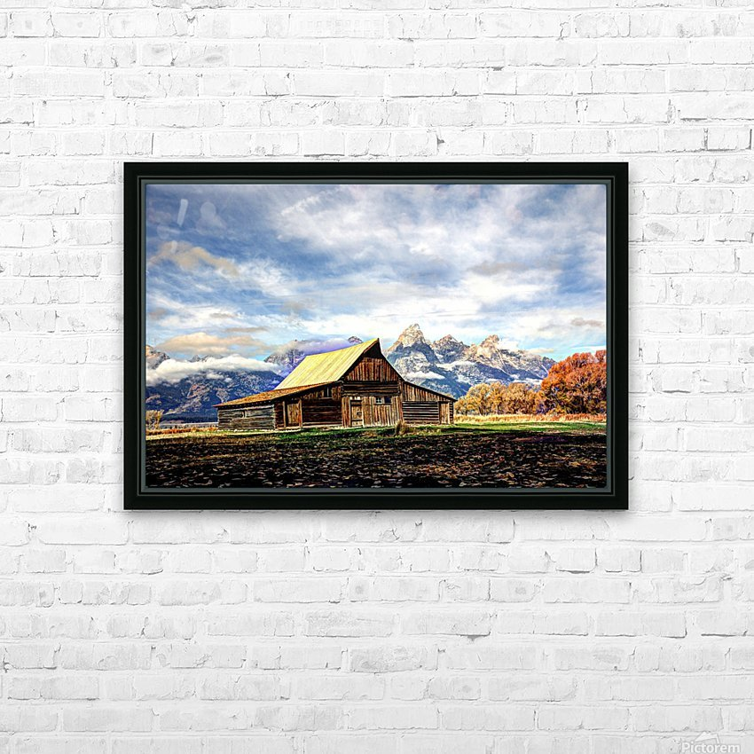 Mormon Row   Jackson Hole HD Sublimation Metal print with Decorating Float Frame (BOX)