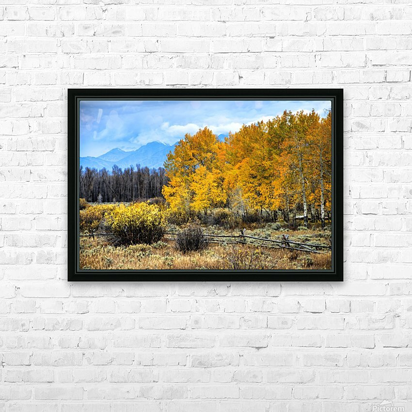 Fall Holdouts in Jackson Hole HD Sublimation Metal print with Decorating Float Frame (BOX)