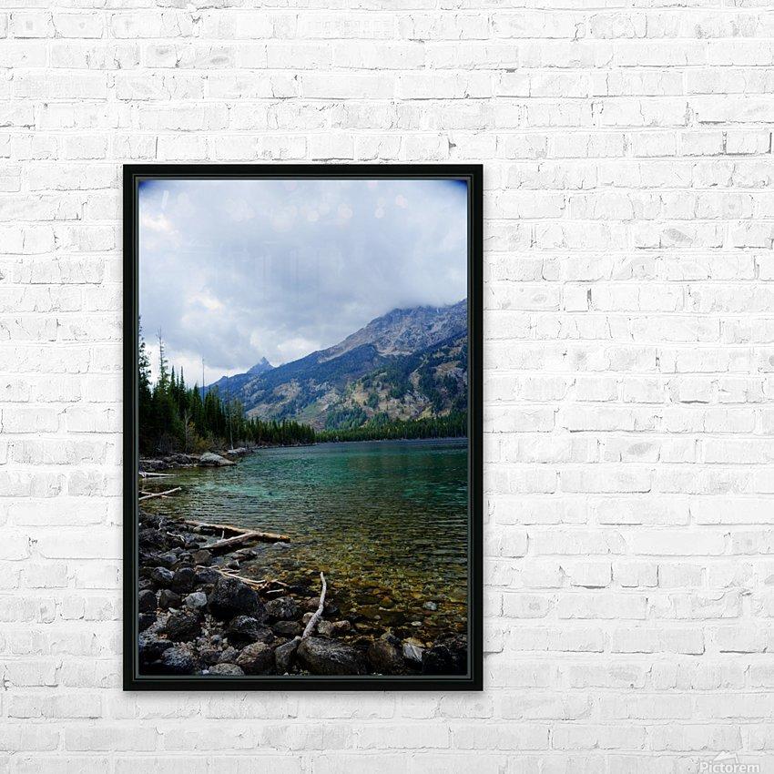 Jenny Lake   Jackson Hole HD Sublimation Metal print with Decorating Float Frame (BOX)