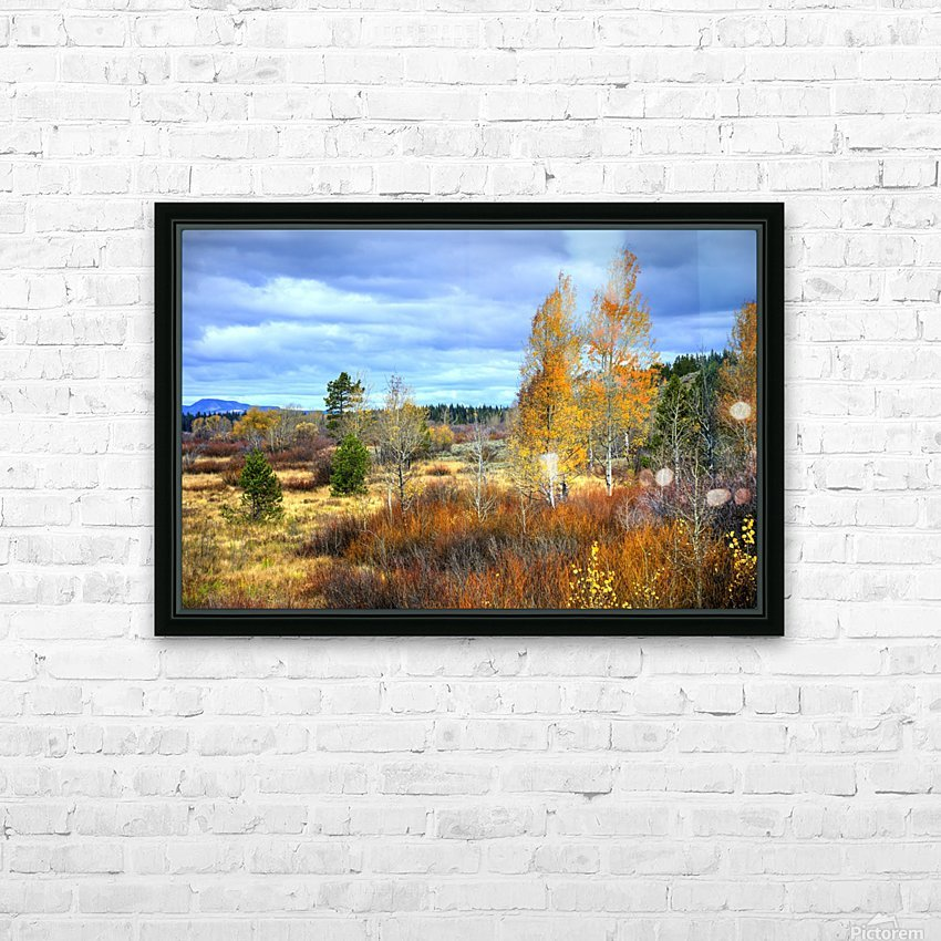 Willow Flats   Jackson Hole HD Sublimation Metal print with Decorating Float Frame (BOX)